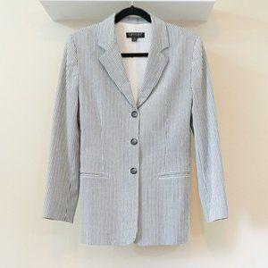 Blue & White Striped Karen Kane Blazer